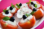 Tomates Recheados com Requeij�o e Presunto