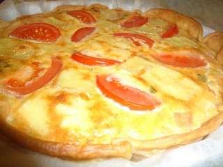 Atum com cogumelos e tomate